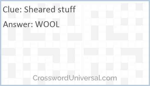 Sheared stuff Answer
