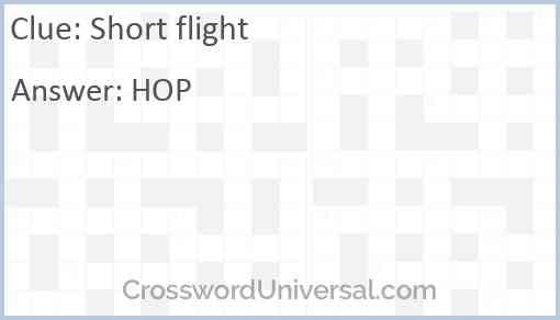 Short flight Answer