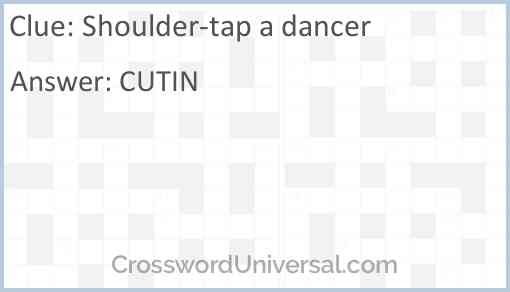 Shoulder-tap a dancer Answer