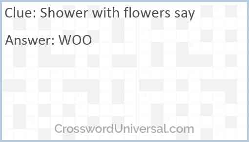 Shower with flowers say Answer