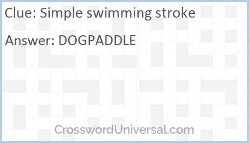Simple swimming stroke Answer