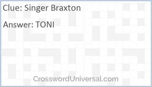 Singer Braxton Answer