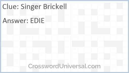 Singer Brickell Answer