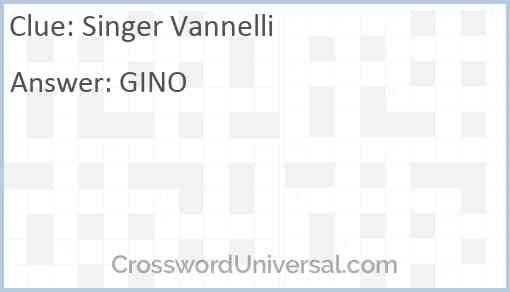 Singer Vannelli Answer