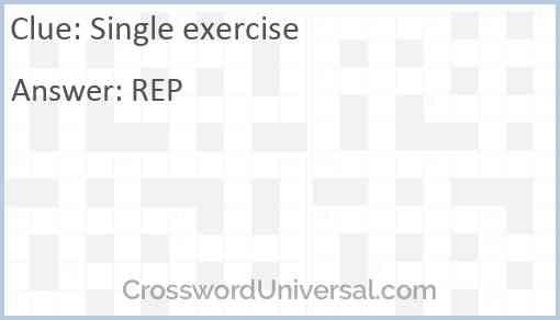 Single exercise Answer