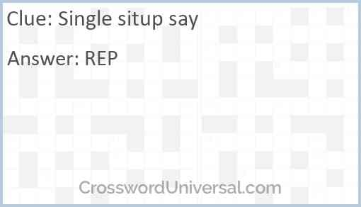 Single situp say Answer
