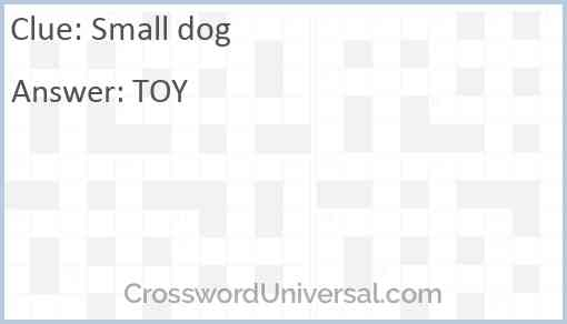 Small dog Answer
