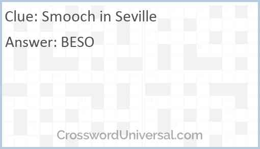 Smooch in Seville Answer