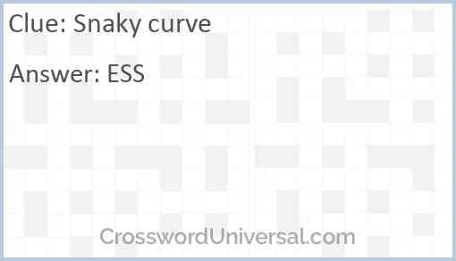 Snaky curve Answer
