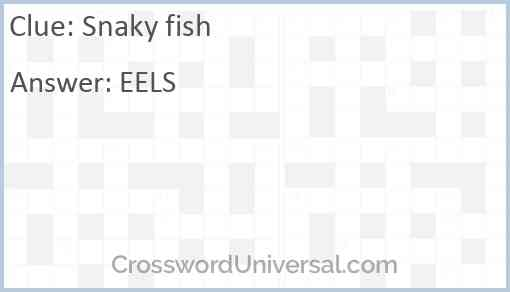 Snaky fish Answer