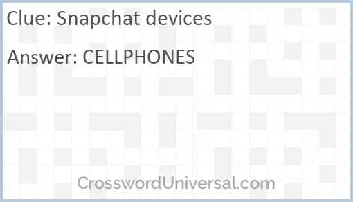Snapchat devices Answer