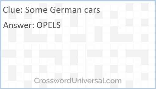 Some German cars Answer
