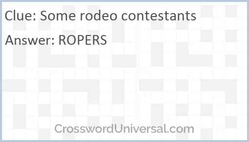Some rodeo contestants Answer