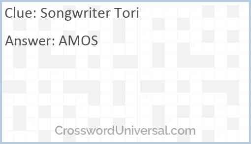 Songwriter Tori Answer