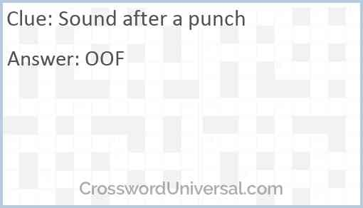 Sound after a punch Answer