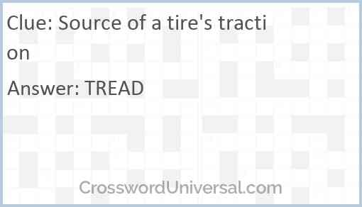 Source of a tire's traction Answer