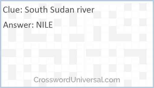 South Sudan river Answer