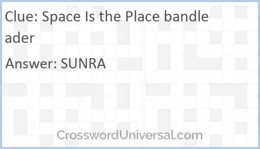 Space Is the Place bandleader Answer