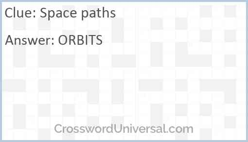 Space paths Answer