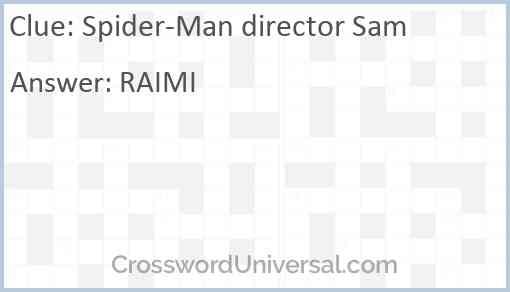 Spider-Man director Sam Answer