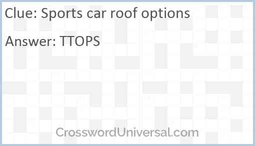 Sports car roof options Answer