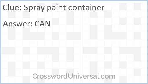 Spray paint container Answer