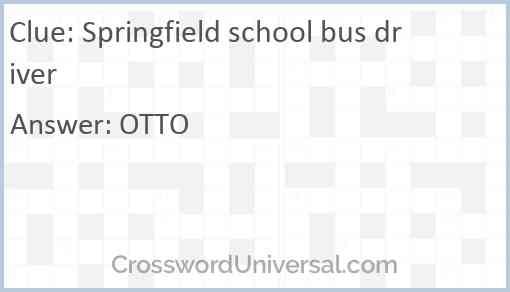 Springfield school bus driver Answer