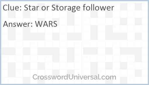 Star or Storage follower Answer