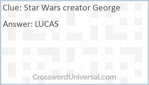 Star Wars creator George Answer