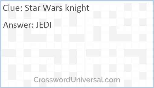 Star Wars knight Answer