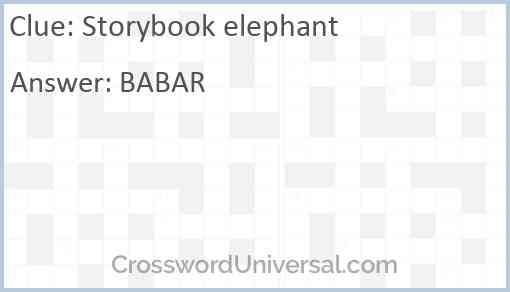Storybook elephant Answer