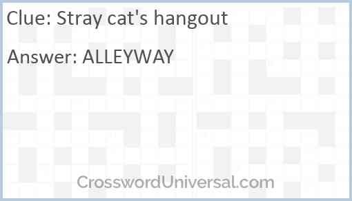 Stray cat's hangout Answer