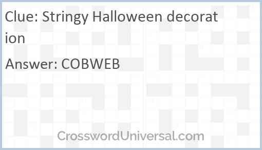 Stringy Halloween decoration Answer