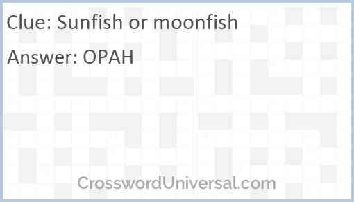 Sunfish or moonfish Answer