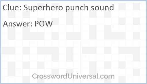 Superhero punch sound Answer