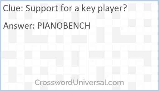 Support for a key player? Answer