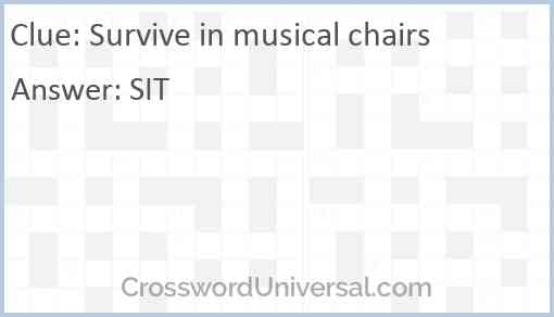 Survive in musical chairs Answer