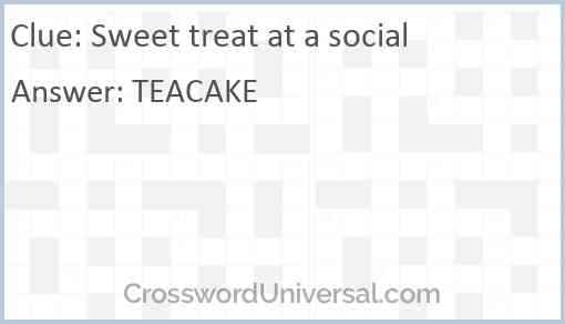 Sweet treat at a social Answer