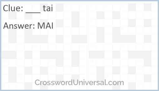 ___ tai Answer
