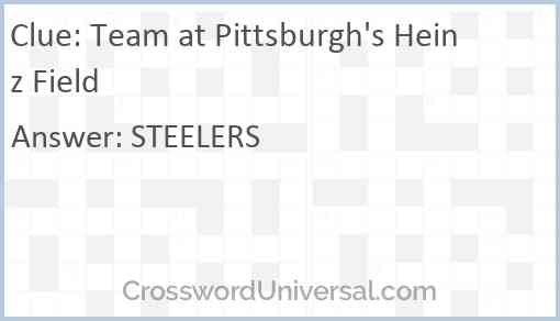 Team at Pittsburgh's Heinz Field Answer