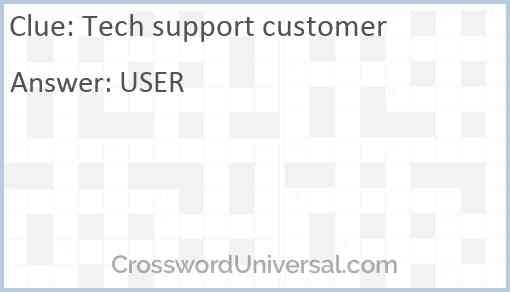 Tech support customer Answer