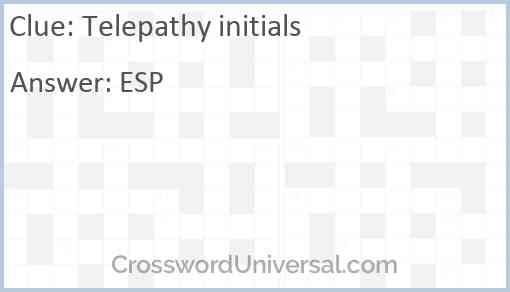 Telepathy initials Answer