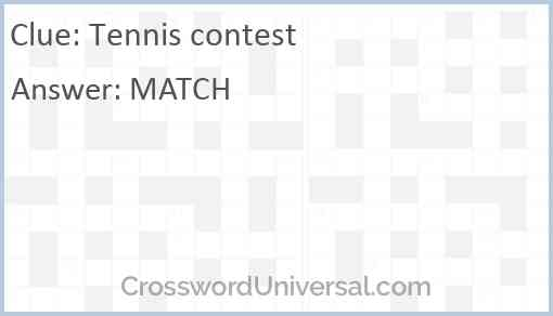Tennis contest Answer