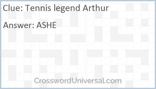 Tennis legend Arthur Answer