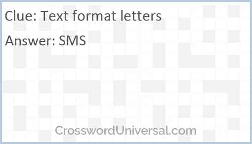 Text format letters Answer