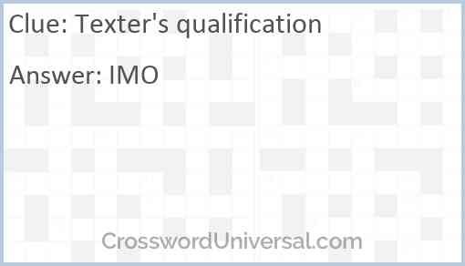 Texter's qualification Answer