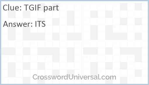 TGIF part Answer