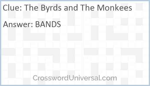 The Byrds and The Monkees Answer