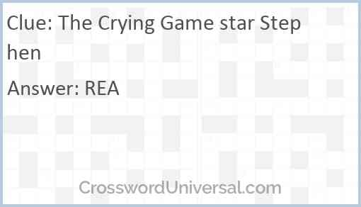 The Crying Game star Stephen Answer