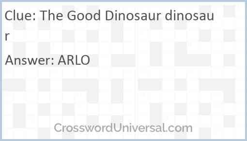 The Good Dinosaur dinosaur Answer